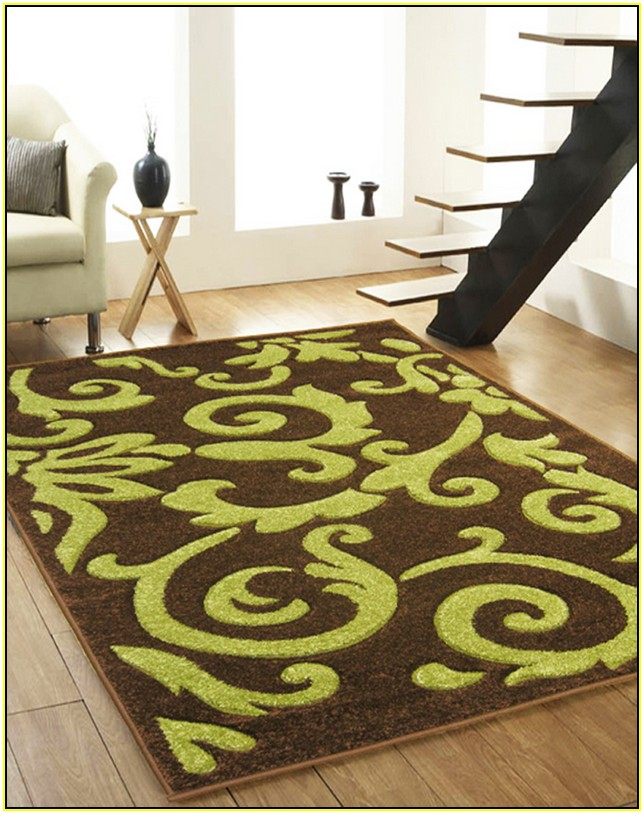 Brown And Lime Green Area Rugs