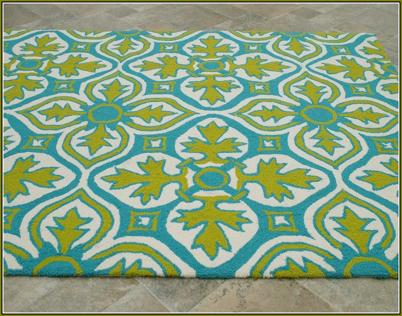 Teal And Lime Green Area Rug