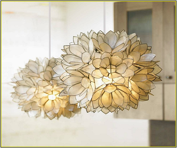 Capiz Shell Chandelier Pottery Barn