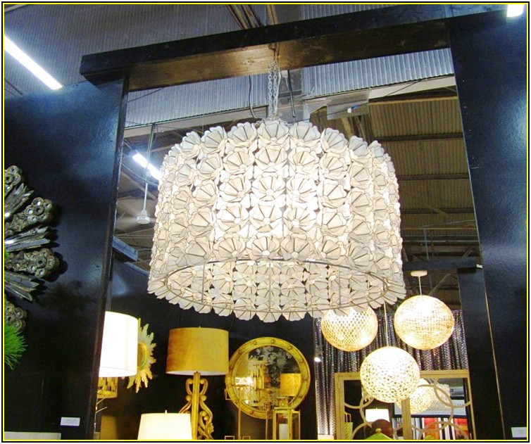 Capiz Shell Lamp Chandelier