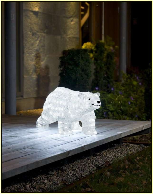 Led Polar Bear Christmas Lights Outdoor