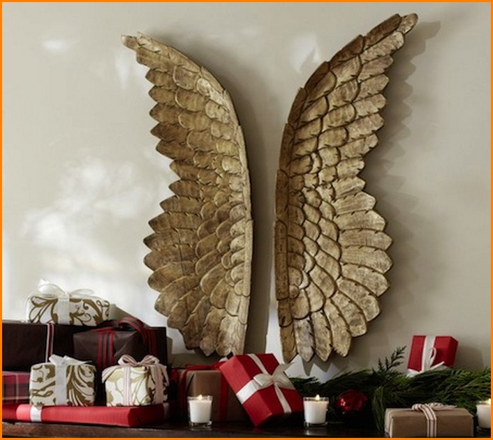 Metal Angel Wings Wall Decoration