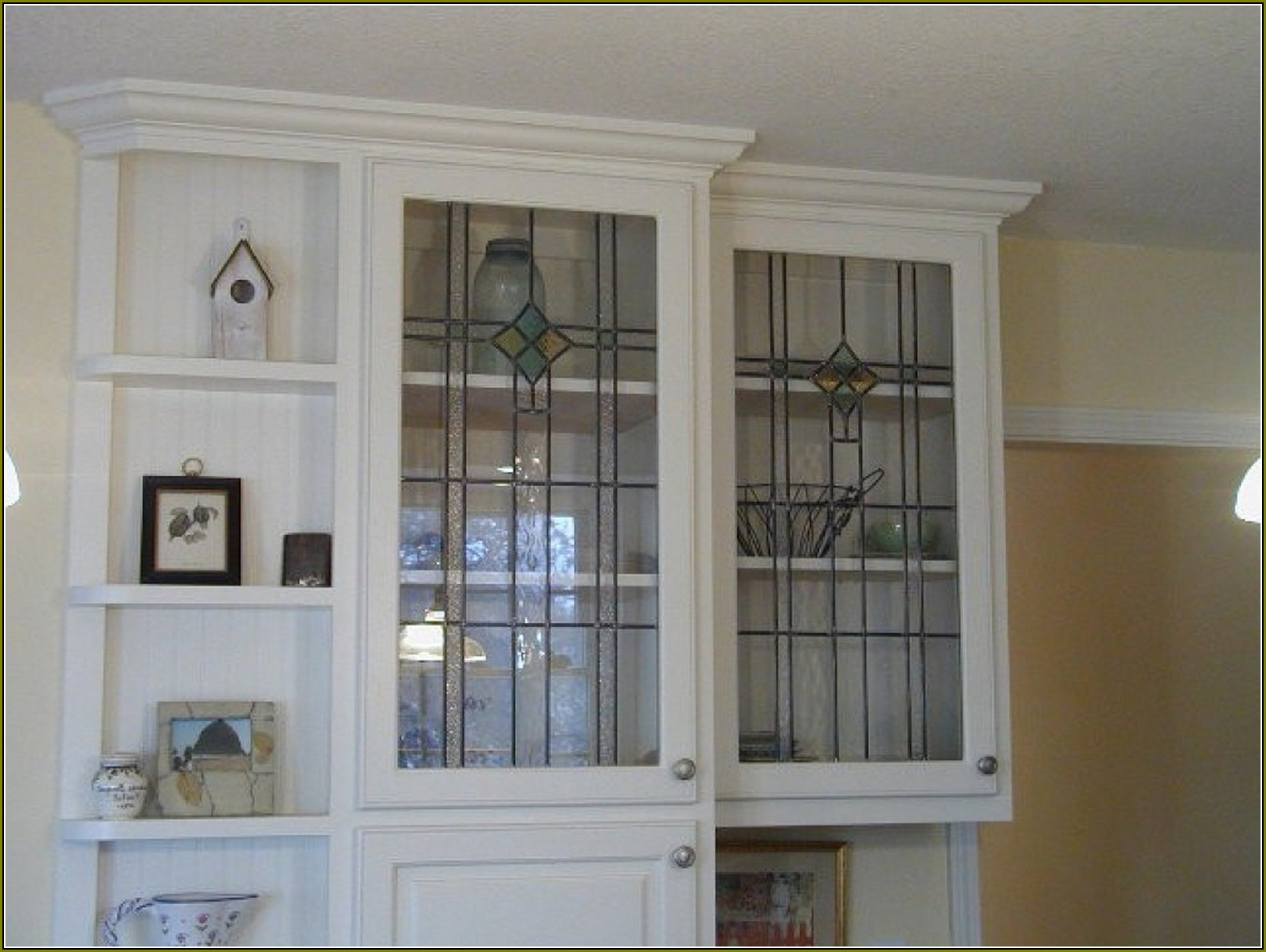 Cabinet Glass Inserts Home Depot