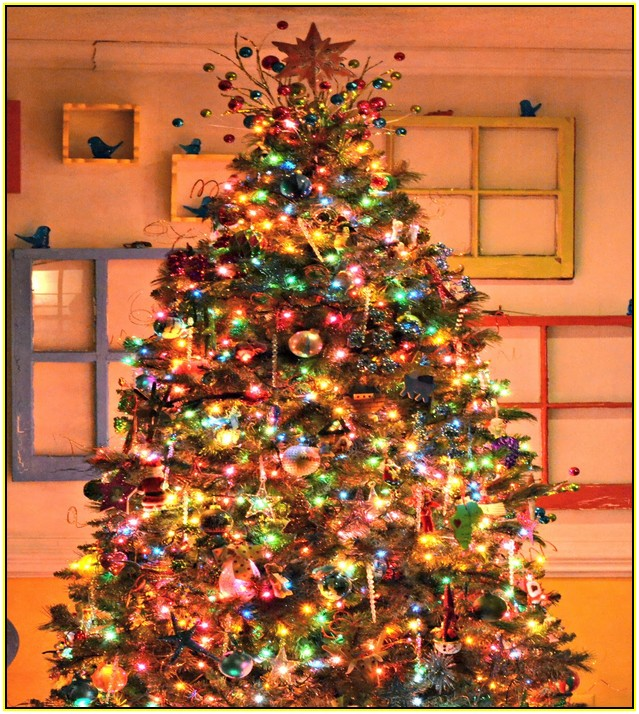 Christmas Tree With Colored Led Lights