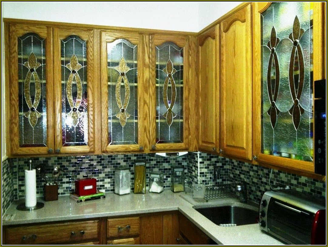 Updating Kitchen Cabinets With Glass Inserts