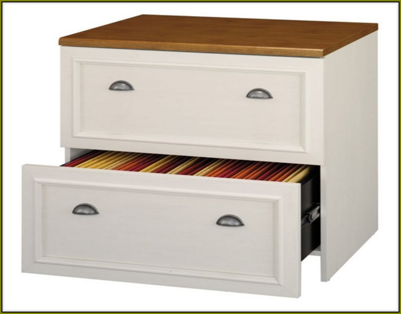 Wood File Cabinet White